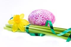 Huevo de Pascua adornado fotografía de archivo