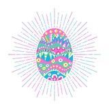 Huevo de Pascua adornado Imagen de archivo libre de regalías