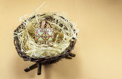 Huevo de Pascua adornado Foto de archivo