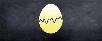 Huevo de Pascua agrietado Fotografía de archivo libre de regalías