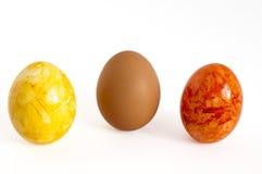 Huevo de Pascua anaranjado Fotos de archivo libres de regalías