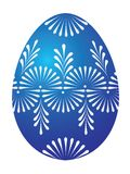 Huevo de Pascua azul Imagenes de archivo