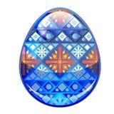 Huevo de Pascua azul Fotografía de archivo