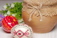 Huevo de Pascua coloreado Fotos de archivo libres de regalías