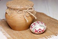 Huevo de Pascua coloreado Foto de archivo