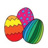 huevo de Pascua colorido para el libro de colorear, tarjeta de felicitación