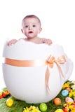 Huevo de Pascua con el bebé Foto de archivo