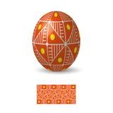 Huevo de Pascua con el ornamento Fotos de archivo