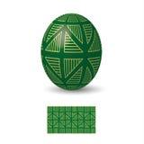 Huevo de Pascua con el ornamento Fotografía de archivo