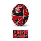 Huevo de Pascua con el ornamento Imagen de archivo libre de regalías