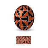 Huevo de Pascua con el ornamento Fotos de archivo libres de regalías