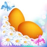 Huevo de Pascua con las flores Fotografía de archivo