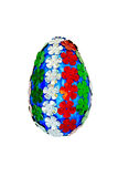 Huevo de Pascua con las lentejuelas bajo la forma de flores Imagen de archivo
