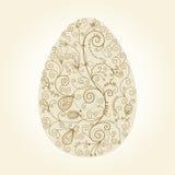 Huevo de Pascua con los elementos florales