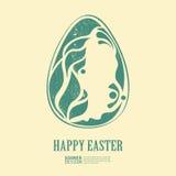 Huevo de Pascua con los elementos florales libre illustration