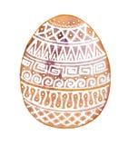 Huevo de Pascua con los ornamentos blancos en background11 amarillo ilustración del vector