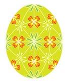 Huevo de Pascua con un modelo pintado, 48 cu?as El s?mbolo de Pascua Una tradici?n antigua de la gente Ilustraci?n del vector ilustración del vector
