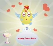 Huevo de Pascua de la historieta Fotografía de archivo libre de regalías