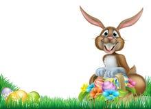 Huevo de Pascua de la historieta Hunt Rabbit Fotos de archivo libres de regalías