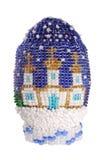Huevo de Pascua de las gotas aisladas en blanco Fotos de archivo
