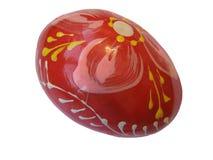 Huevo de Pascua de madera Fotos de archivo libres de regalías