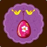 Huevo de Pascua decorativo con los pájaros Imágenes de archivo libres de regalías