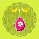Huevo de Pascua decorativo con los pájaros ilustración del vector