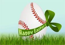 Huevo de Pascua del béisbol stock de ilustración