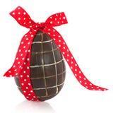 Huevo de Pascua del chocolate Fotografía de archivo