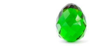 Huevo de Pascua del vidrio verde Fotografía de archivo