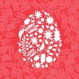 Huevo de Pascua - ejemplo del vector Foto de archivo