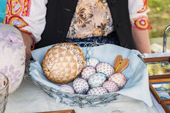 Huevo de Pascua - el ocuparse vanamente hecho a mano Foto de archivo