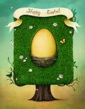 Huevo de Pascua en árbol stock de ilustración