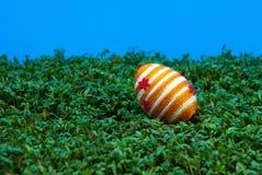 Huevo de Pascua en el berro Fotos de archivo