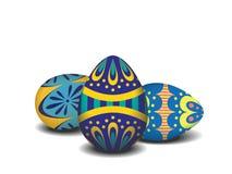 Huevo de Pascua en el fondo blanco Imagen de archivo libre de regalías