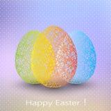 Huevo de Pascua en fondo borroso con el lugar para Fotos de archivo libres de regalías