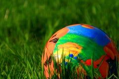 Huevo de Pascua en hierba Imagenes de archivo