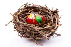 Huevo de Pascua en jerarquía Fotografía de archivo libre de regalías