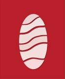 Huevo de Pascua en mirada del corte del papel Imagen de archivo libre de regalías