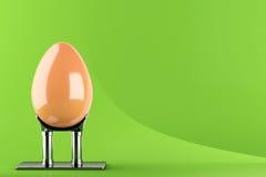 Huevo de Pascua en soporte del metal ilustración del vector