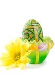 Huevo de Pascua en sostenedor Fotografía de archivo