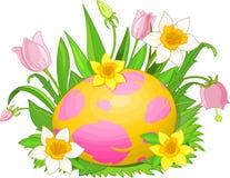 Huevo de Pascua en una hierba stock de ilustración