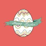 Huevo de Pascua feliz stock de ilustración