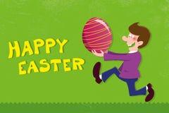Huevo de Pascua feliz Foto de archivo libre de regalías