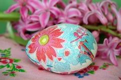 Huevo de Pascua floral adornado Imágenes de archivo libres de regalías