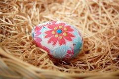 Huevo de Pascua floral adornado Foto de archivo libre de regalías