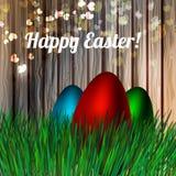 Huevo de Pascua floral Vector foto de archivo libre de regalías