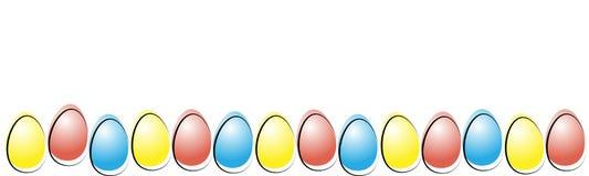 Huevo de Pascua Guirnalda de huevos Composición feliz de Pascua ilustración del vector