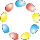 Huevo de Pascua Guirnalda de huevos Composición feliz de Pascua libre illustration