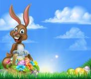 Huevo de Pascua Hunt Bunny Fotografía de archivo